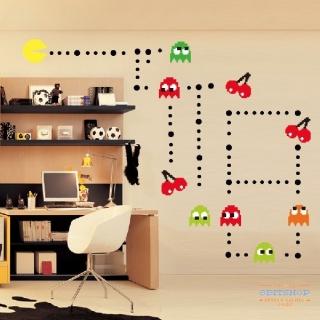 Настенные стикеры Pac-Man