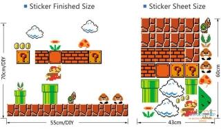 Настенные стикеры Super Mario