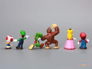 Набор из 6 фигурок персонажей из Super Mario / Donkey Kong