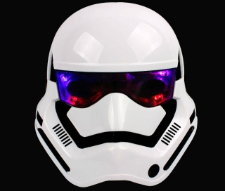 Маска Штурмовика с подсветкой глаз (Stormtrooper, Звездные войны)
