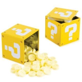 Ящик-вопросик с монетами-конфетами