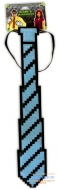 Пиксельный галстук синий